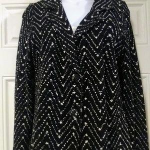 Worthington knit stretch blazer jacket XL